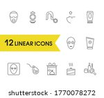 beauty icons set with natural ...