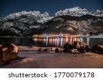 Night Lights In Molveno Lake