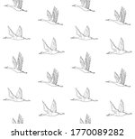 vector seamless pattern of hand ... | Shutterstock .eps vector #1770089282