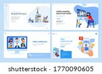 web page design templates of... | Shutterstock .eps vector #1770090605