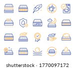 mattress line icons. breathable ... | Shutterstock .eps vector #1770097172