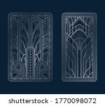 silver art deco panels with...   Shutterstock .eps vector #1770098072