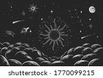 constellation and cosmic... | Shutterstock .eps vector #1770099215
