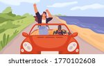 young trendy happy hipster... | Shutterstock .eps vector #1770102608