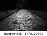 Street With Cobblestone Pattern ...
