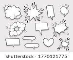 speech bubble for comic text... | Shutterstock .eps vector #1770121775