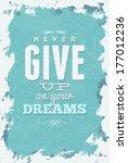 vintage typography vector... | Shutterstock .eps vector #177012236
