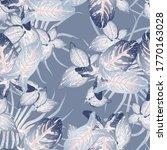 tropical leaf modern motif....   Shutterstock .eps vector #1770163028