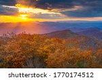 Blue Ridge Mountains At Sunset...