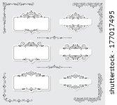 set of vintage frames and... | Shutterstock . vector #177017495