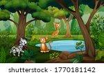 illustration of many animal... | Shutterstock . vector #1770181142