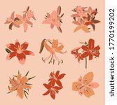 collection art collage lily... | Shutterstock .eps vector #1770199202