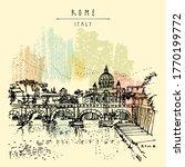 rome  italy  europe. tiber... | Shutterstock .eps vector #1770199772