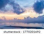 Sunset view of Sanya Bay, Sanya City, Hainan Province, China