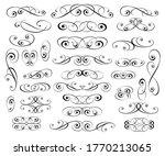 set of decorative elements.... | Shutterstock .eps vector #1770213065