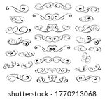 set of decorative elements.... | Shutterstock .eps vector #1770213068