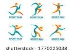 set of sports logos  running... | Shutterstock .eps vector #1770225038