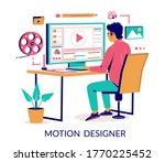 motion designer animator... | Shutterstock .eps vector #1770225452