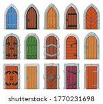 Medieval Door Vector Cartoon...