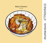 katsudon is a popular japanese... | Shutterstock .eps vector #1770245612
