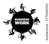 people working around the... | Shutterstock .eps vector #1770260552