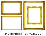 set golden frame isolated on... | Shutterstock . vector #177026336