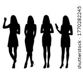 silhouettes of a women standing ... | Shutterstock .eps vector #1770282245