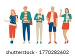 set of young men and women ... | Shutterstock .eps vector #1770282602