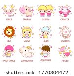 set of zodiac sign characters... | Shutterstock .eps vector #1770304472