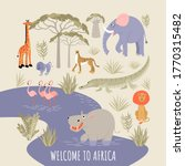 welcome to africa banner.... | Shutterstock .eps vector #1770315482