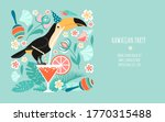 hawaiian party banner template... | Shutterstock .eps vector #1770315488