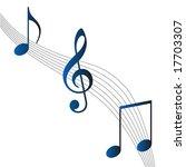 music notes   Shutterstock .eps vector #17703307