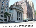 Small photo of New York, NY, USA - June 19, 2020: Building of the Congregation Shearith Israel, aka the Spanish and Portuguese Synagogue, the oldest Jewish congregation in the United States, Central Park West facade