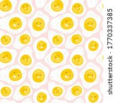 seamless pattern with fun fried ... | Shutterstock .eps vector #1770337385
