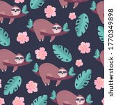 seamless tropical pattern with...   Shutterstock .eps vector #1770349898