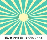vector background sun rays with ... | Shutterstock .eps vector #177037475