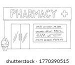 pharmacy exterior store shop... | Shutterstock .eps vector #1770390515