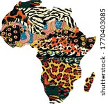 abstract africa map fabric... | Shutterstock .eps vector #1770403085