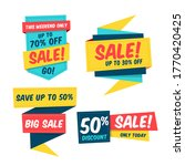 colorful sale banner template...   Shutterstock .eps vector #1770420425