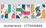 abstract background set with... | Shutterstock .eps vector #1770436868