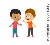 little cartoon multicultural ...   Shutterstock .eps vector #1770451562