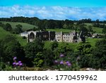 Egglestone Abbey Against A Deep ...