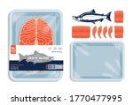 vector sockeye salmon packaging ...   Shutterstock .eps vector #1770477995