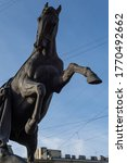 Statue Of A Man With A Horse O...
