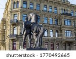 Statue Of A Man With A Horse On ...