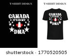 canada it's in my dna t shirt... | Shutterstock .eps vector #1770520505