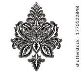 vector damask element. isolated ... | Shutterstock .eps vector #1770522848