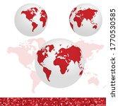 earth globe 3d vector...   Shutterstock .eps vector #1770530585