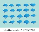 set of clouds speech bubble... | Shutterstock .eps vector #177053288