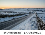 Icey And Snow Covered Rural...